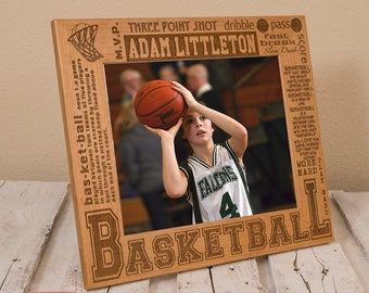 Personalized Basketball Picture Frame - Sports Gift for Basketball Player - Customized Gift for Athlete - Basketball Team Gift - Coach Gift