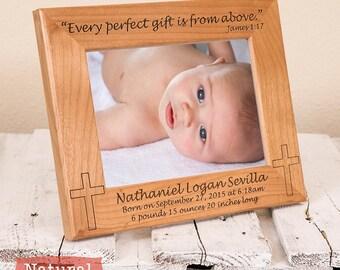 3eb9b3260bc8 Newborn Picture Frame - Christian Birth Announcement - Personalized  Christian Gift - Birth Announcement Picture Frame - Gift for New Parents