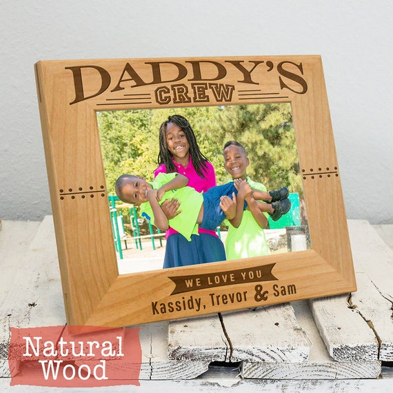 Picture Frame For Dad From Kids Personalized Daddy Picture Etsy