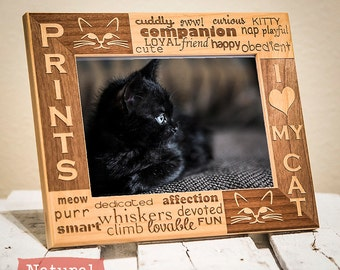 Personalized Cat Picture Frame | Cat Lover Frame | Gift for Cat Owner | Custom Pet Gift | Cat Picture Frame | Gift for Friend with Cat