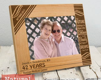 Personalized Retirement Frame - Employee Gift - Retirement Gift - Gifts For Him - Gifts for Her - Corporate Picture Frame - Teacher Gift