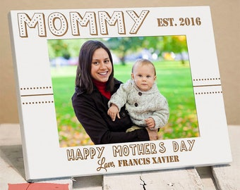 Personalized Mother's Day Picture Frame for Mommy | Mother's Day Gift from Baby | First Mother's Day | Custom Mother's Day Gift