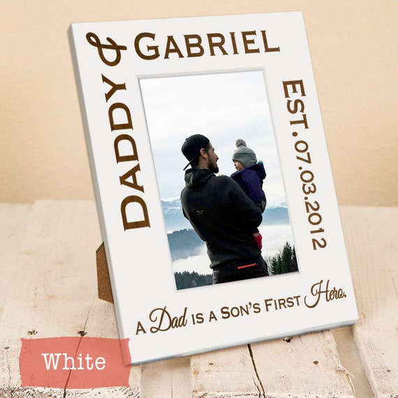 Dad And Son Daughter Personalized Frame