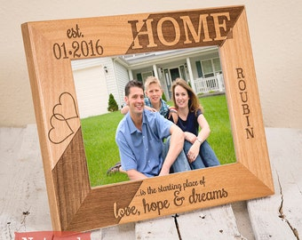 New Home Housewarming Gift - Personalized New Home Frame - New Home Decor - New Home Gifts - Personalized Home Frame- New Home Picture Frame