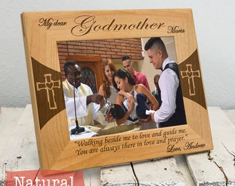 Personalized Godmother Gift - Picture Frame for Godmother - Custom Gift for Godmother - Christmas Gift for Godmother - Godmother Wood Frame