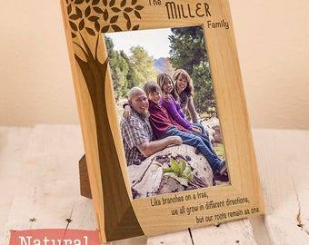 Personalized Family Tree Frame - Gifts For Parents - Gifts For Him - Gifts for Her - Dad Gift- Mom Gift - Family Picture Frame