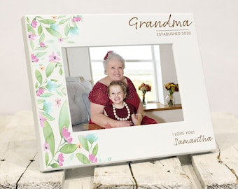 Brand New For Mothers Day!  Personalized Grandma Picture Frame, Grandkids Names, Mothers Day Present to Grandmother From Grandchildren