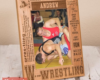 Personalized Wrestling Picture Frame - Sports Gift for Wrestler - Wrestling Team Gift - Customized Present for Athlete - Wrestling Picture