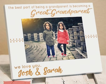 Personalized Great Grandparent Frame, Includes Great Granddaughter Grandson Names, Gift Box, Mothers Day Gifts for Great Grandparents 2020