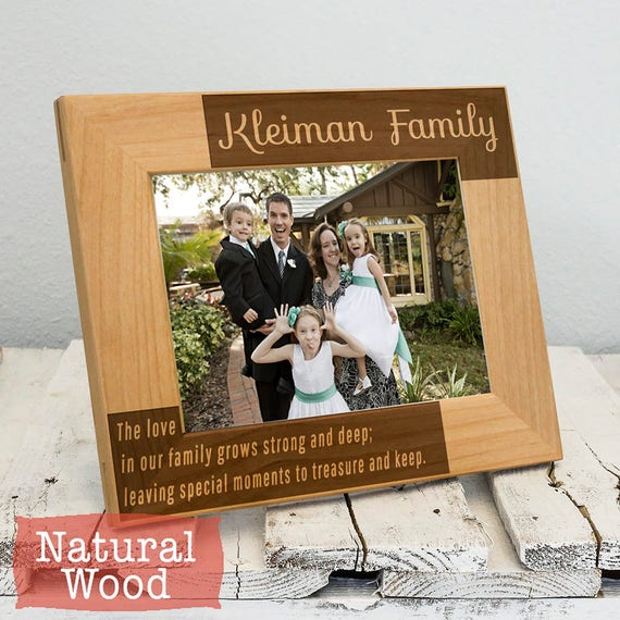 Personalized Family Picture Frame Personalized Gift For Etsy