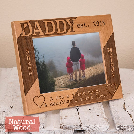 Dad Picture Frame Personalized Picture Frame For Dad Etsy