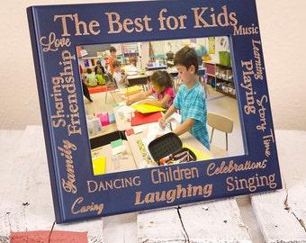 Word Collage for Teacher - Gift for Teacher - Personalized Picture Frame - Personalized Gift for Teacher - Gift for Professor - Teacher Gift