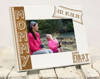 Personalized Mother's Day Picture Frame | Gift for Mother's Day | First Mother's Day Present | Gift for Mommy from Baby | Custom Wood Frame