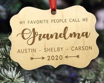2021 Personalized Grandma Christmas Ornament, Grandma Gift Under 15, Inexpensive Xmas Gift For Grandma, Thoughtful Grandmother Present