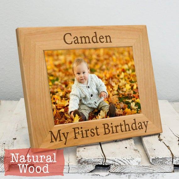 My First Birthday Baby Picture Frames First Birthday Boy Etsy