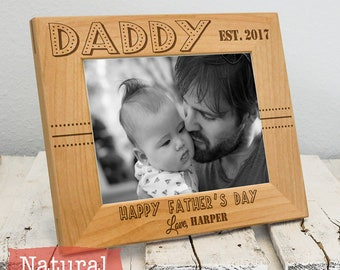 Personalized Father's Day Gift for Daddy - Custom Dad Picture Frame - Father's Day Present - Daddy Picture Frame - Gift for Dad from Child