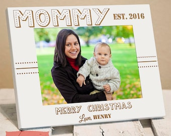 Personalized Picture Frame for Mom - Christmas Picture Frame for Mom - Christmas Gift for Mom - Picture Frame for Mom - Christmas 2018 - Mom