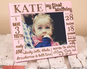 Personalized Picture Frame for Toddler | Custom First Birthday Frame | Gift for New Parents | Baby Picture Frame | Nursery Decor | Baby Gift