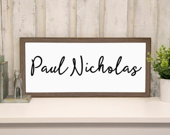 Name Sign for Nursery | Personalized for Baby | Baby Signs for Nursery | Baby Shower Gift | Hand-Painted Farmhouse Sign