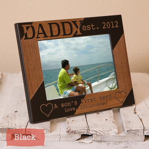 Dad And Son Personalized Picture Frame Personalized Dad Etsy
