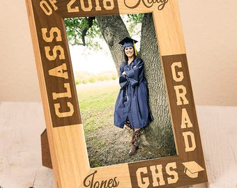 High School Graduation Picture Frame | Personalized Graduation Gift | Custom Graduate Gift | Graduation Party Present | Student Gift