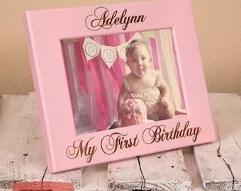 First Birthday Picture Frame | First Birthday Gift | Gift for First Birthday Party | Baby Picture Frame | Nursery Decor | Custom Baby Gift