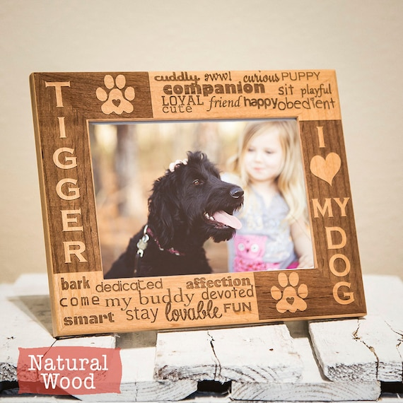 Personalized Dog Picture Frame Frame For Dog Lovers Dog Etsy