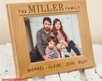 Personalized Family Frame - Mother's Day Gift - Gifts For Parents - Father's Day Gift - Christmas Gift - Family Picture Frame