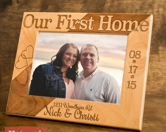 New Home Housewarming Gift - Personalized New Home Frame - Our First Home -New Home Decor - New Home Gifts - Personalized Home Frame