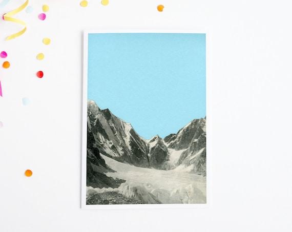 Mountain Card, Christmas Cards, Sale - Blue Skies