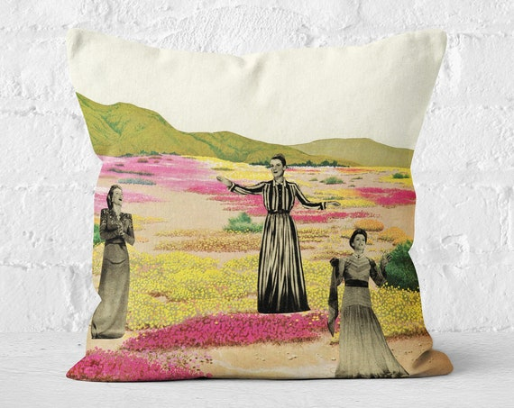 Bird Velvet Cushion, Boho Decor - Human Cacti