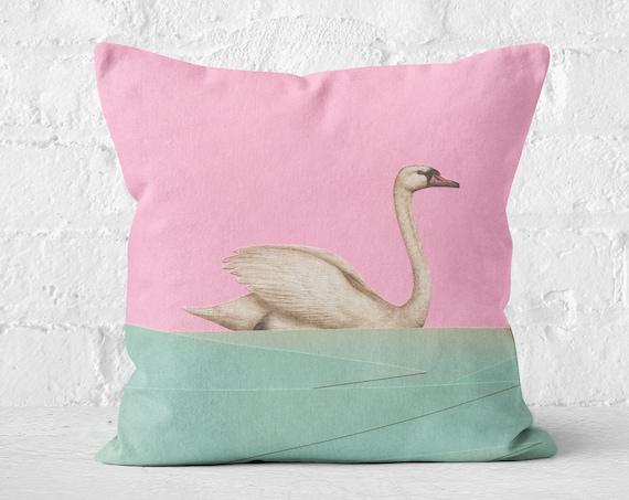 Swan Cushion - Spring Swan