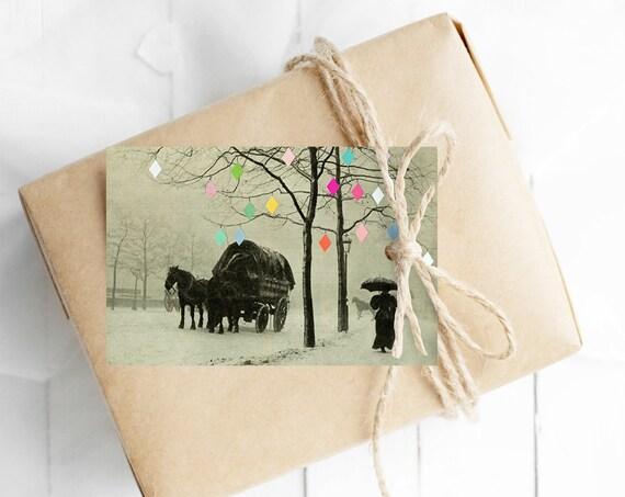 Christmas Gift Tags With String, Set of 12 Hang Tags - Christmas Day