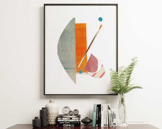 Mid Century Modern Print - Abstract 014