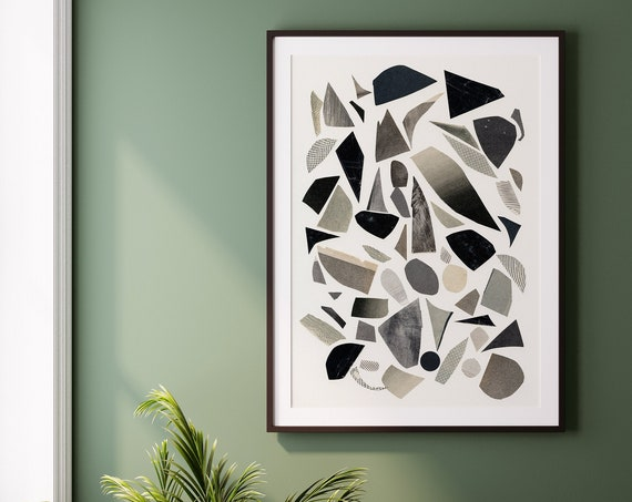 Black and White Abstract Wall Art - Abstract 012
