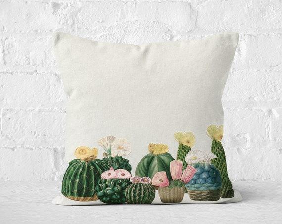 Cactus Cushion, Botanical Pillow - Cactus Garden