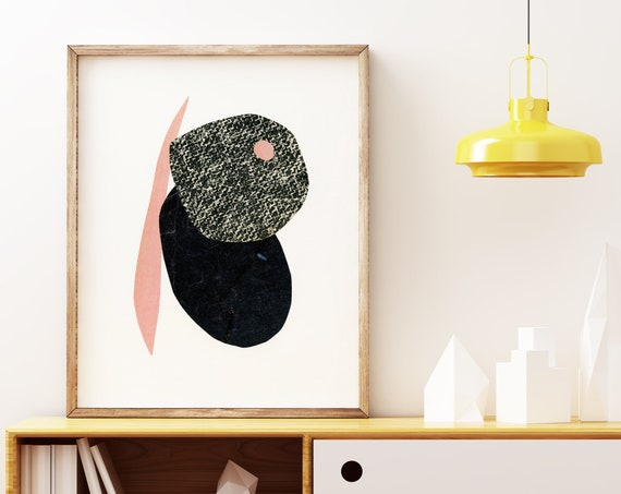 Mid Century Modern Abstract Print - Abstract 015