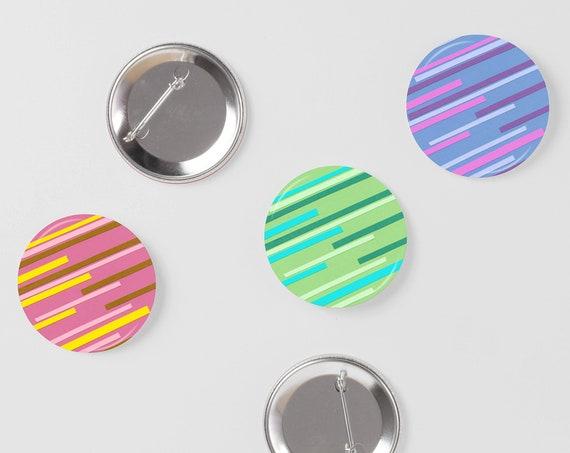 Retro Badges, Button Badge Pack, Stocking Stuffer - Speed