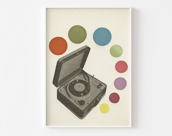Record Player Print for Music Lover - Pop Music