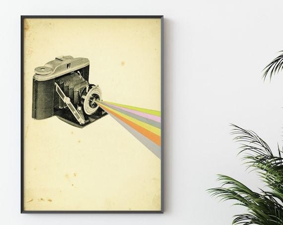 Camera Art Print, Photography Gifts, Pop Art Print - It's a Colourful World