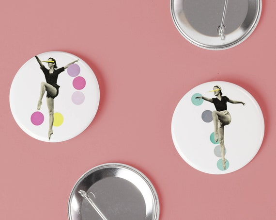 Ballet Badge Pack, Set of Two 25mm Button Badges - The Rules of Dance