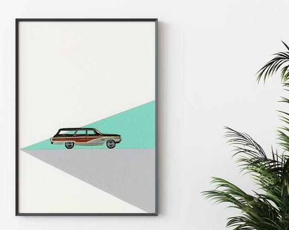 Mid Century Car Print - Drive