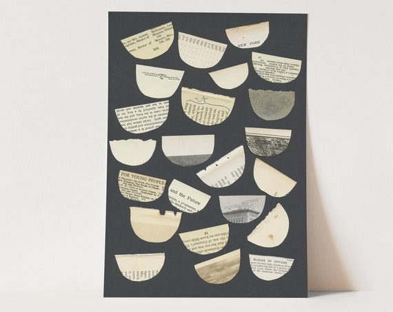 ORIGINAL COLLAGE, Book Art, Free Speech - Free Words