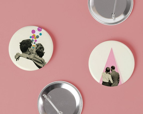 Button Badge Set, Romantic Gifts For Her - True Romance