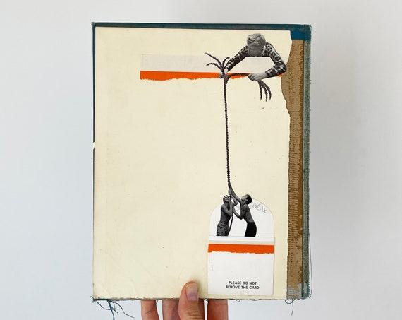 Original Collage on Vintage Book Cover - Sinkhole