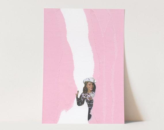 ORIGINAL COLLAGE, Theatre Art, Female Portrait - Curtain Call