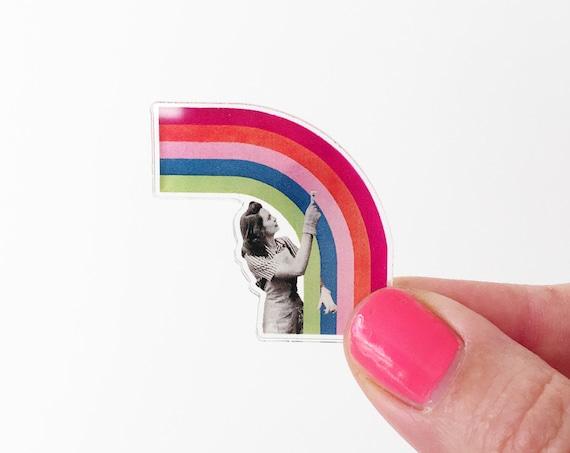 Rainbow Acrylic Pin - Paint a Rainbow