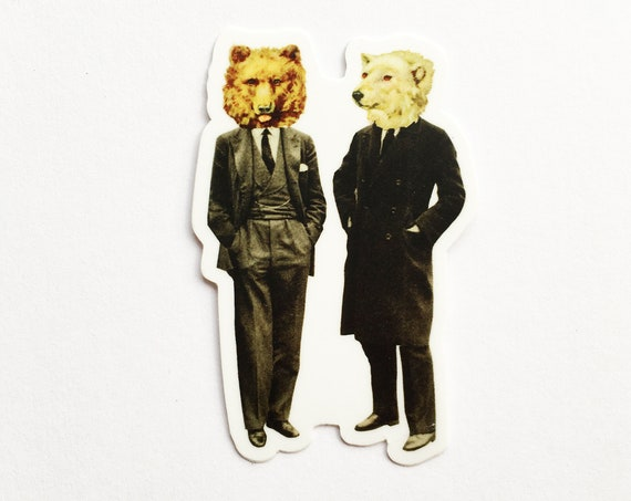 Bear Sticker, Vinyl Sticker, Device Decal - The Likely Lads