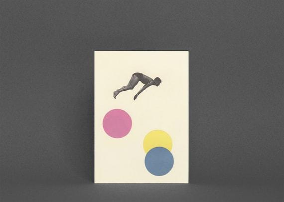 Swimming Card, Diving Greeting Card - High Dive