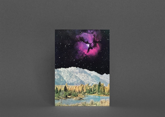 Space Card, Planet Card, Fathers Day - Time and Space